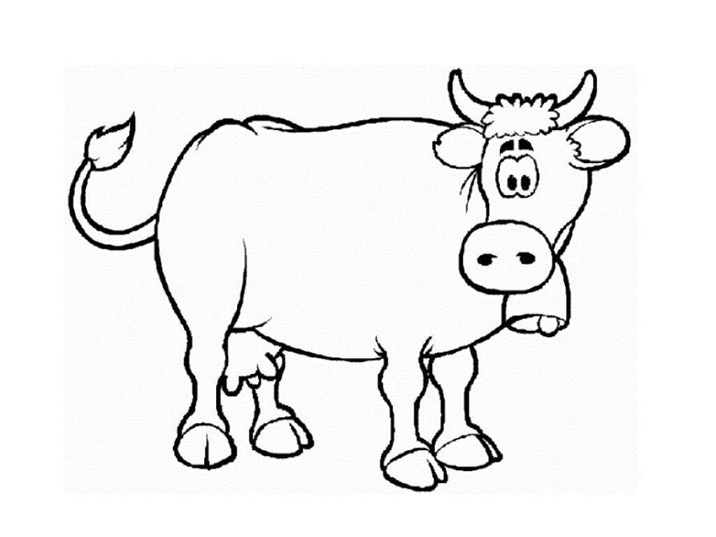 Cow Coloring Book Coloring Pages For Kids